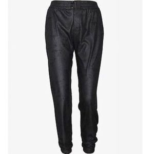 Georgie ECO leather jogger pants